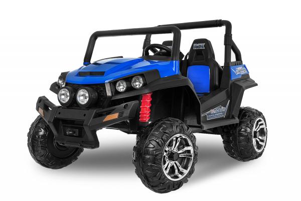 UTV electric pentru 2 copii Golf-Kart 210W 24V PREMIUM #Albastru 0