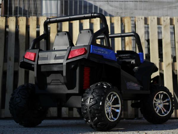 UTV electric pentru 2 copii Golf-Kart 210W 24V PREMIUM #Albastru 4