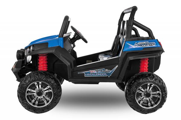 UTV electric pentru 2 copii Golf-Kart 210W 24V PREMIUM #Albastru 2
