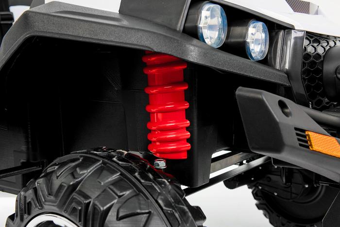 UTV electric pentru 2 copii Golf-Kart 210W 24V PREMIUM #Alb [2]