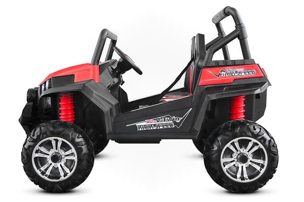 UTV electric pentru 2 copii Golf-Kart 210W 24V PREMIUM #Rosu 4
