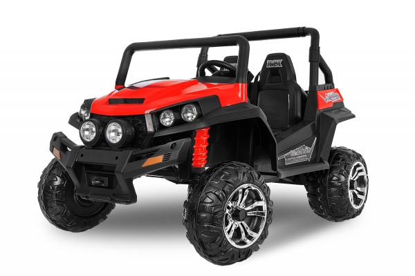 UTV electric pentru 2 copii Golf-Kart 210W 24V PREMIUM #Rosu 0