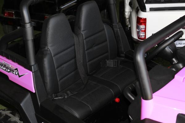 UTV electric pentru copii Golf-Kart 4x45W 2x12V PREMIUM #Roz 8