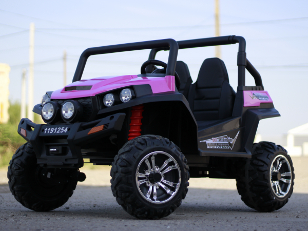 UTV electric pentru copii Golf-Kart 4x45W 2x12V PREMIUM #Roz 1