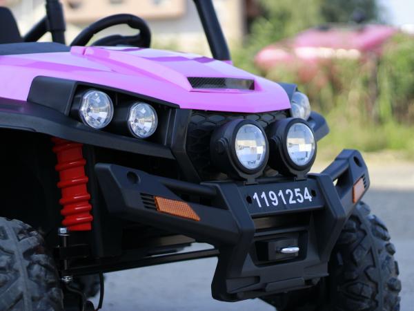 UTV electric pentru copii Golf-Kart 4x45W 2x12V PREMIUM #Roz 5