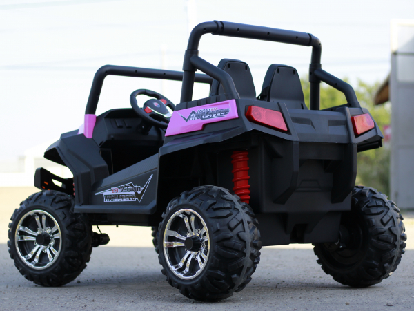 UTV electric pentru copii Golf-Kart 4x45W 2x12V PREMIUM #Roz 2