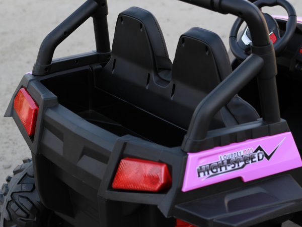 UTV electric pentru copii Golf-Kart 4x45W 2x12V PREMIUM #Roz 3