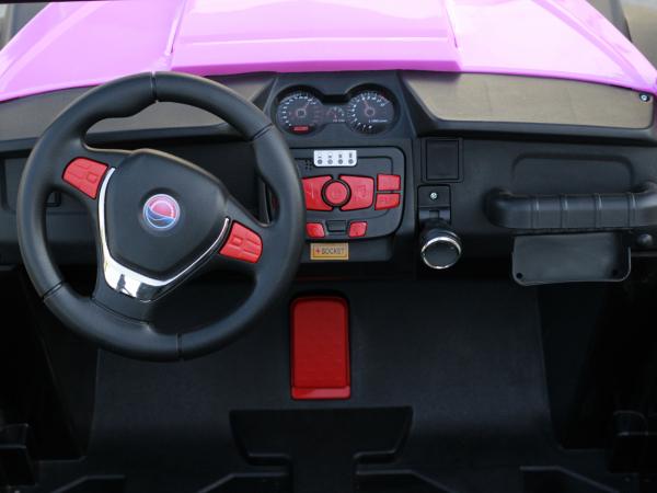 UTV electric pentru copii Golf-Kart 4x45W 2x12V PREMIUM #Roz 4
