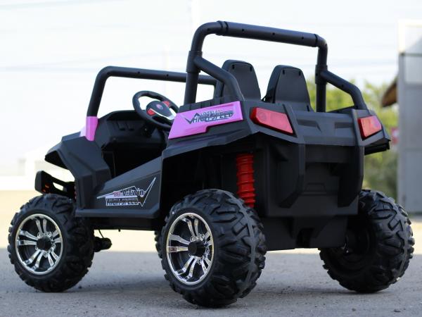 UTV electric pentru 2 copii Golf-Kart 210W 24V PREMIUM #Roz 6