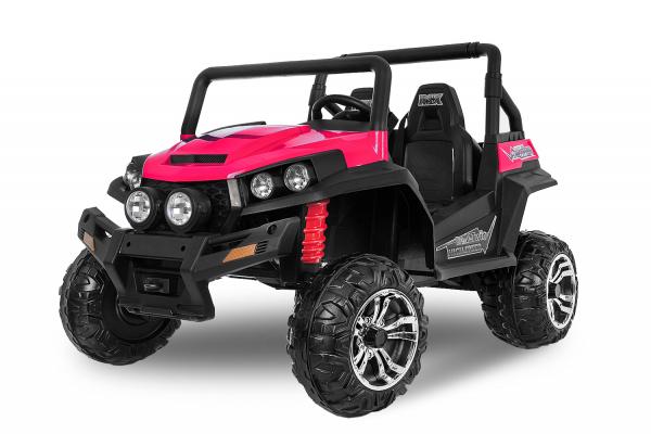 UTV electric pentru 2 copii Golf-Kart 210W 24V PREMIUM #Roz 0