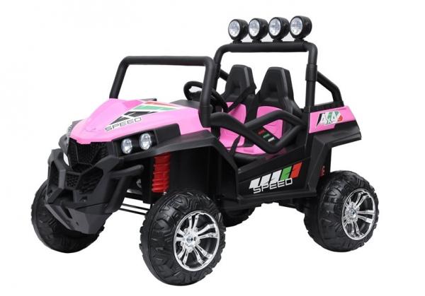 UTV electric pentru copii Golf-Kart S2588 180W PREMIUM #Roz 5