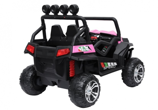 UTV electric pentru copii Golf-Kart S2588 180W PREMIUM #Roz 3