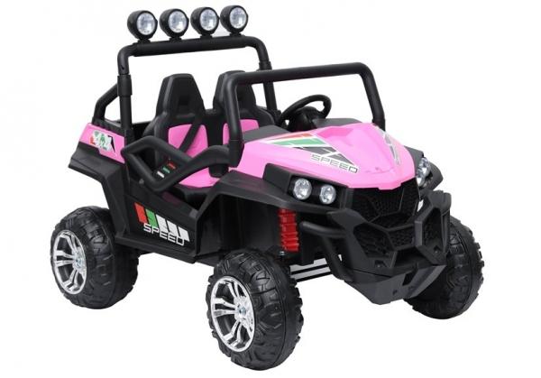 UTV electric pentru copii Golf-Kart S2588 180W PREMIUM #Roz 1