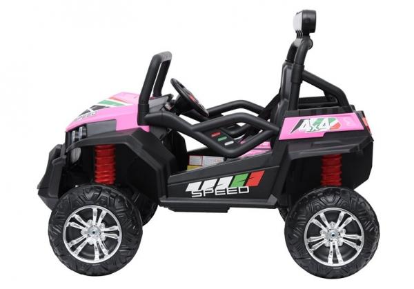 UTV electric pentru copii Golf-Kart S2588 180W PREMIUM #Roz 4