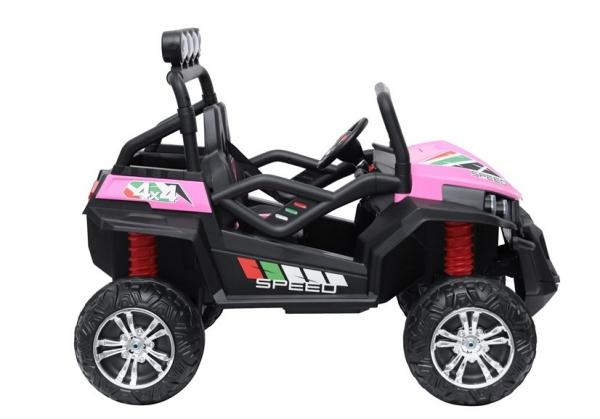 UTV electric pentru copii Golf-Kart S2588 180W PREMIUM #Roz 2