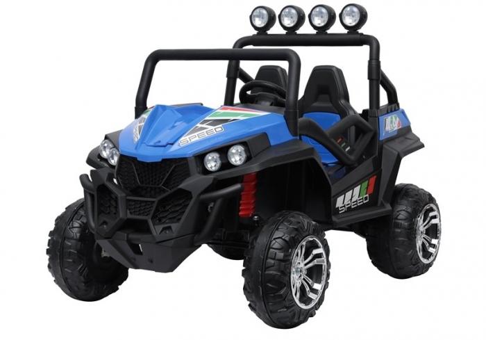 UTV electric pentru copii Golf-Kart S2588 180W PREMIUM #Albastru [2]