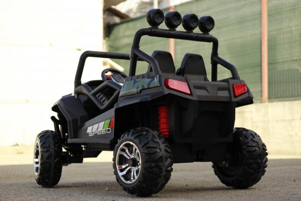 UTV electric pentru copii Golf-Kart S2588 180W PREMIUM #Verde 5