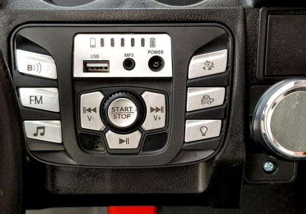 UTV electric pentru copii Golf-Kart S2588 180W PREMIUM #Albastru [3]