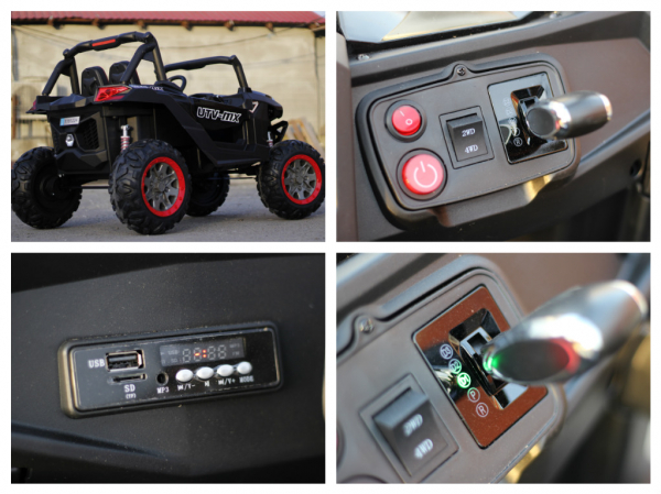 UTV electric Rocker Premium 4x4 140W 24V #Negru [9]