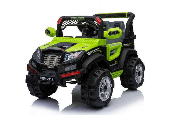 Kinderauto POLICE BBH-318 2x35W STANDARD #Verde 0