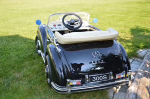 Mercedes 300S OldTimer, negru pentru copii 2-6 ani [2]