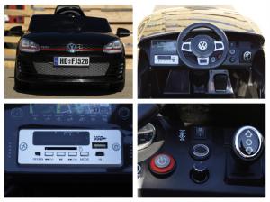 Masinuta electrica VW Golf GTI 2x30W 12V STANDARD #Negru8