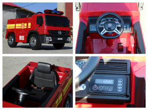 Masinuta electrica Pompieri Fire Truck Hollicy STANDARD #RED7