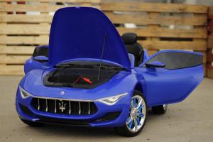 Masinuta electrica Maserati Alfieri 12V 2x35W CU ROTI MOI #Albastru1