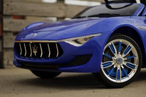 Masinuta electrica Maserati Alfieri 12V 2x35W CU ROTI MOI #Albastru4