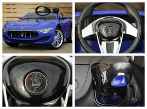 Masinuta electrica Maserati Alfieri 12V 2x35W CU ROTI MOI #Albastru6