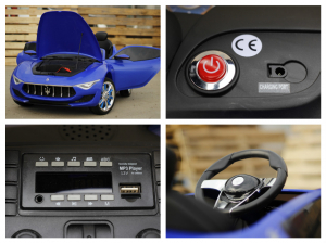 Masinuta electrica Maserati Alfieri 12V 2x35W CU ROTI MOI #Albastru7