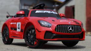 Masinuta electrica Mercedes GT-R STANDARD 2x25W 12V AMG #Rosu3