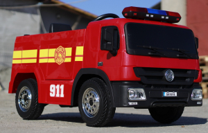 Masinuta electrica Pompieri Fire Truck Hollicy STANDARD #RED1