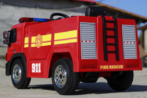 Masinuta electrica Pompieri Fire Truck Hollicy STANDARD #RED4
