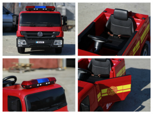 Masinuta electrica Pompieri Fire Truck Hollicy STANDARD #RED8