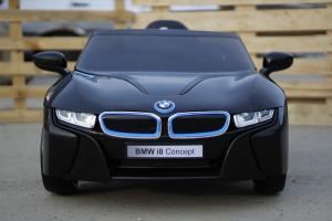 Masinuta electrica BMW i8 2x 35W 12V cu Scaun TAPITAT #Negru1