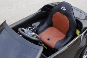 Masinuta electrica BMW i8 2x 35W 12V cu Scaun TAPITAT #Negru3