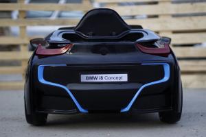 Masinuta electrica BMW i8 2x 35W 12V cu Scaun TAPITAT #Negru4