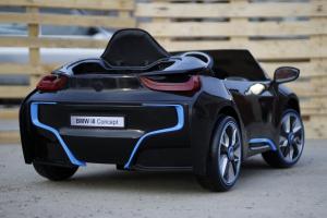 Masinuta electrica BMW i8 2x 35W 12V cu Scaun TAPITAT #Negru5