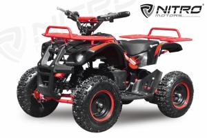 Mini ATV electric NITRO Torino Deluxe Quad 800W 36V #Rosu1