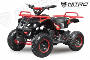 Mini ATV electric NITRO Torino Quad 1000W 36V LITHIU-ION# Rosu1