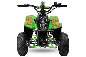 ATV electric ECO Bigfoot 800W 36V cu Baterie Detasabila SI FAR cu LED #Verde [1]