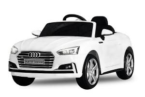 Masinuta electrica Audi S5 Cabriolet 2x35W CU ROTI MOI 12V #Alb0