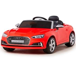 Masinuta electrica Audi S5 Cabriolet 2x35W CU ROTI MOI 12V #Rosu0