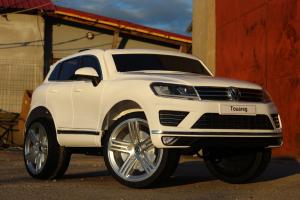 Masinuta electrica VW Touareg CU ROTI MOI 2x 35W 12V #ALB2