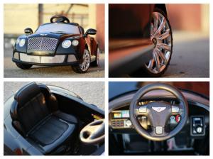 Masinuta electrica Bentley Continental GTC STANDARD 12V #Negru7