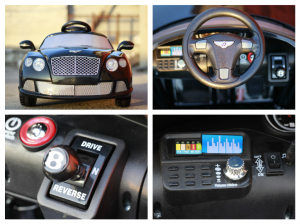 Masinuta electrica Bentley Continental GTC STANDARD 12V #Negru8
