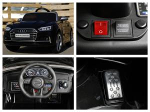 Masinuta electrica Audi S5 Cabriolet 2x35W CU ROTI MOI 12V #Negru7