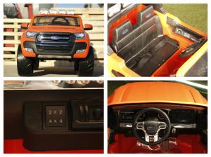 Masinuta electrica Ford Ranger 4x4 cu ROTI MOI 4x45W #Portocaliu5