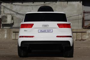 Masinuta electrica Audi Q7 2x35W 12V, Scaun tapitat #ALB4